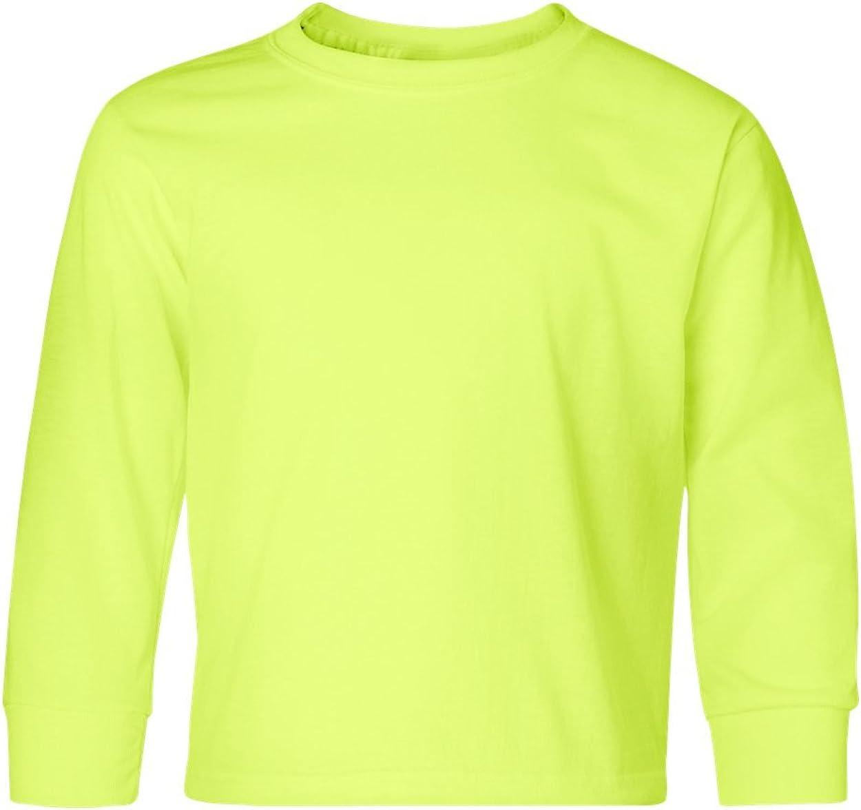 Jerzees Heavyweight Blend Long-Sleeve T-Shirt (29BL) Safety Green, L
