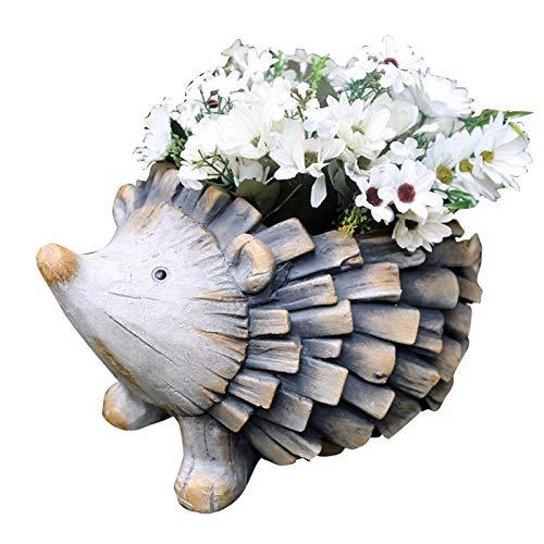 RUIXINLI Jardín al Aire Libre Arte del Arte de la Maceta de Flores Escultura Animal Erizo Sculpture Garden Maceta Grande (Size : 33.5 * 25 * 21CM)
