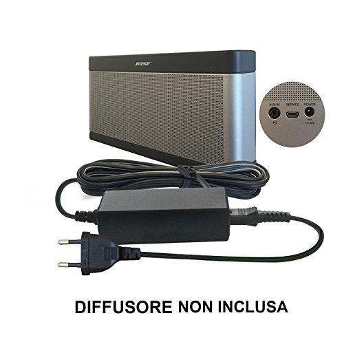 ABC Products® Sostituzione Bose 17V - 20V, (17 - 20 Volt) Caricabatteria, alimentazione, Adattatore Cavo di alimentazione per SoundLink I, II, III, 1, 2, 3 Wireless Bluetooth Portatile Altoparlante / Diffusore / Speaker