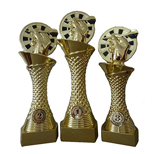 RaRu 3er-Serie Dart-Pokale mit Ihrer Wunschgravur (X101D3)