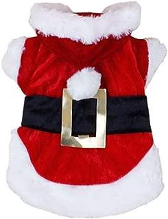 Wouke Christmas Pet Dog Clothes, Puppy Cute Santa Costumes Winter Warm Pet Apparel Small Dog Cat