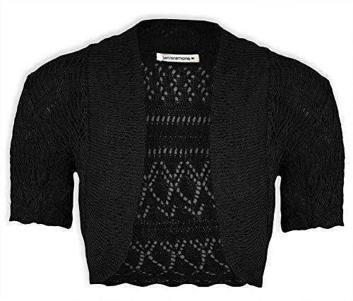 Janisramone Mujeres Señoras Nuevo Crochet De Punto Bolero S