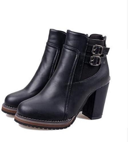 FMWLST Stiefel Botines para damen Silberforma Tacones Altos schuhe para damen Hebilla Corta Stiefel schuhe Casuales