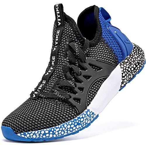 Elaphurus Kinder Sportschuhe Jungen Sneaker Mädchen Hallenschuhe Outdoor Laufschuhe Turnschuhe für Unisex-Kinder, 33 EU, A Blau
