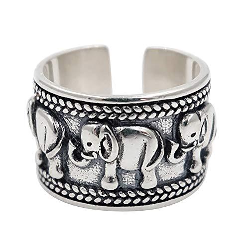 24 JOYAS Anillo Ajustable Elefantes de la Suerte para Mujer, Boda, Enamorados, Aniversario o Regalo romántico