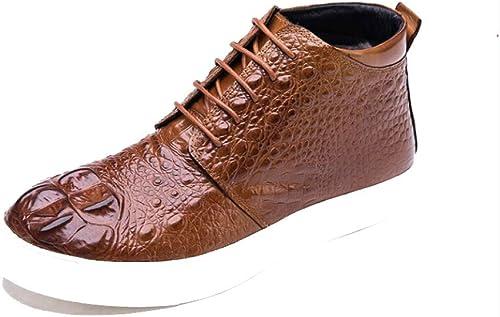 ZQZQ Bottes en Cuir pour Hommes Shorts Shorts High bottes Décontracté Fashion  profiter de vos achats