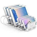 UNITEK 10 Puertos USB Cargador con estación de Acoplamiento/Organizador para Smartphone, Tablet / 2 x QC 3.0 96 W/Universal, Y-2190A, Blanco, 96 W con 8 x USB + 2 x qc 3.0
