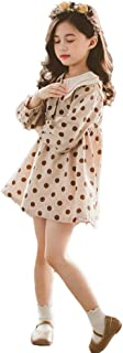 N/X Children's Double Neck Polka Dots Skirt Long Sleeves Princess Dress Bubble Skirt Puff Ball Dress for Girls Children's Day Gifts