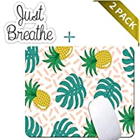 Pineapple Fruit Mouse Pad,Customized Rectangle Non-Slip Rubber Gaming Mousepad Computer Mouse Pad Mat with Laptop Stickers [並行輸入品]