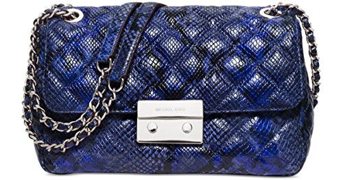 Crafted in impossibly soft lamb leather, this MICHAEL Michael Kors bag pairs best with your highest heels & a bold red lip. Includes an adjustable chain strap that can be left long or doubled at the shoulder for day-to-night wear. Quilted luxe python...