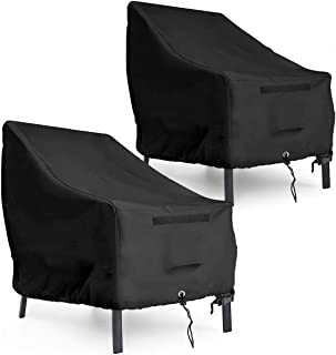 """1 Pair Waterproof Adirondack Patio Chair Cover - 35""""L x 38""""D x 31""""H 600D Heavy Duty Rip-Stop and Durable Outdoor Chair Cov..."""