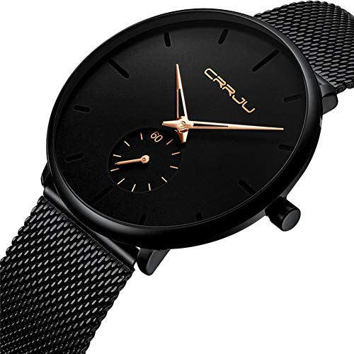 Qinlee Armbanduhr Herren Mode Klassisch Unisex Damenuhren Herrenuhren Edelstahl Strap/Legierung Uhrenarmband Anolog Armbanduhren für Männer Frauen-Gold