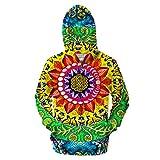 Hombres/Mujeres 3D Impreso Samsara Mandala Rectangle Chaqueta Sport Pullover Zipper Hoodies Sudadera ZIP429 S