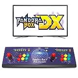 Wisamic Real Pandora 's Box DX Arcade - Consola de juego: compatible con juegos 3D con clasificación Full HD mejorada de CPU, soporte PS3 PC TV 2, no incluye juegos (8 teclas)