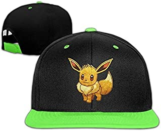 Eevee Pokemon Mystery Dungeon Red and Blue Rescue Teams Custom Unisex Kids Hip-hop Baseball Hat Cotton Comfortable Lovely