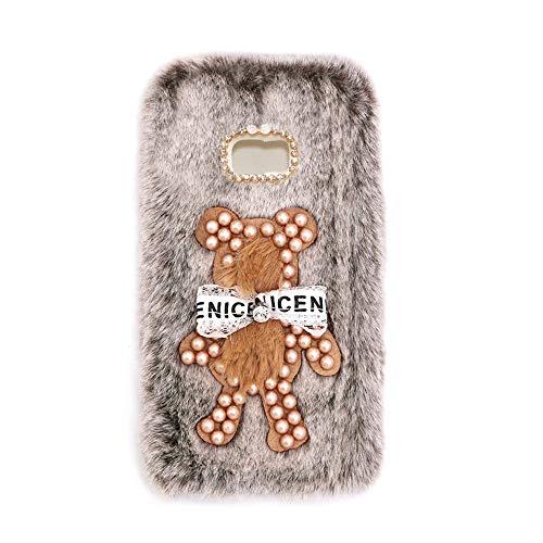 YHY Funda Teléfono Pearl Bear Plush para Samsung Galaxy S5 Carcasa De Felpa De Silicona Suave y Elegante La Piel Marrón