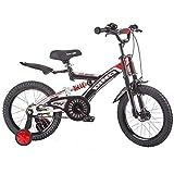 Bicicletas para niños, bicicletas para niños Bicicleta para niños de 18 pulgadas 4-5-6-7-8 años Bicicleta para niños y niñas Bicicleta para montar en la montaña con choque al aire libre (Color: ne