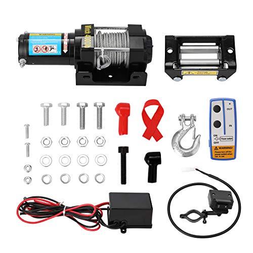 Kshzmoto 4000lbs Kit de cabrestante de recuperación eléctrica ATV Trailer Truck Car...
