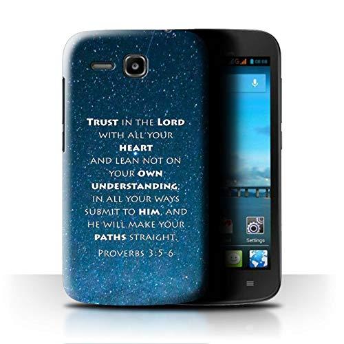 Hülle Für Huawei Ascend Y600 Christliche Bibel Vers Trust In The Lord/Proverbs Design Transparent Ultra Dünn Klar Hart Schutz Handyhülle Case