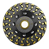 """Megatron 4"""" Diamond Cup Grinding Removing Disc Wheel for Concrete, Paint, Epoxy, Glue and Mastic with CDB Newest Technology (Megatron 4"""")"""