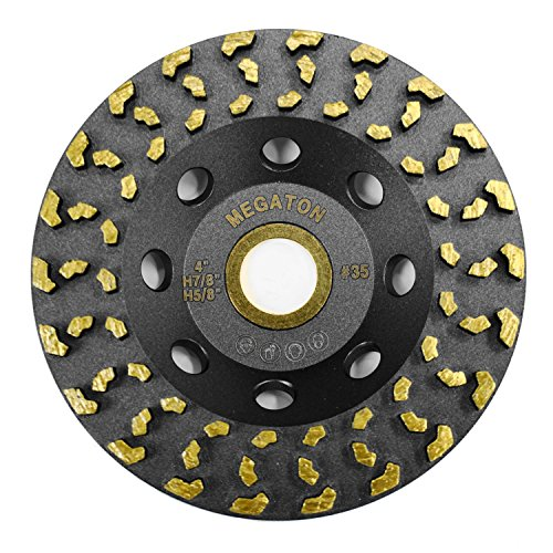 Megatron 4' Diamond Cup Grinding Removing Disc Wheel for Concrete, Paint, Epoxy, Glue and Mastic with CDB Newest Technology (Megatron 4')