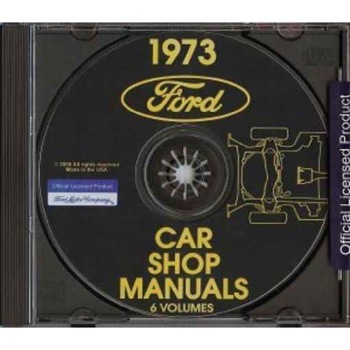 1973 ford factory repair shop & service manual cd - pinto, maverick,  maverick grabber