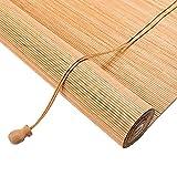 Tenda a Pacchetto in Bambù per Interni,Cortina di Bamboo,Tende a Rullo in Legno,Installazione a Soffitto o Parete,Tapparella Avvolgibile Bambù per Cucina Soggiorno Terrazza Gazebo (110x280cm/39x110in)