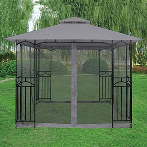 Grey Winchester Gazebo - Polenza Party Tent Patio Shade Outdoor Fun Canopy