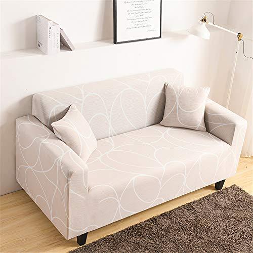 Oduo Stretch Sofabezug mit Armlehnen Irregulär Geometrie Muster Sofaüberwürfe 1 2 3 4 Sitzer, Passend für Ecksofa L Form Sofa/Couchbezug/Sesselbezug/Sofahusse...