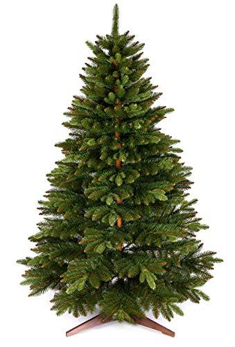 Sapin de Noël artificiel 180 cm – Sapin de Noël élégant avec pied de sapin de Noël – Sapin de sapin artificiel de qualité supérieure avec branches particulièrement épaisses – Produit exclusif
