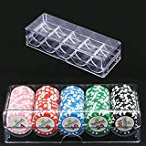 Class-Z Acryl Poker Chip Tray Set für 100 Pokerchips, Chip-Gestell / -Tablett, durchsichtig
