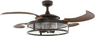 Beacon Fanaway nuevo clásico ventilador de techo y luz, marrón, E27, 60W