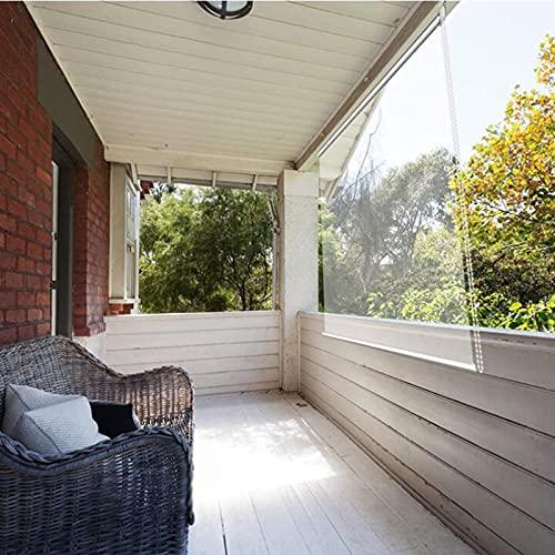 Jcnfa - Estor enrollable transparente para exteriores, cortinas enrollables, cortinas opacas, cortinas térmicas aislantes, grandes de plástico PVC, cortina transparente I (tamaño: 120 x 220 cm)