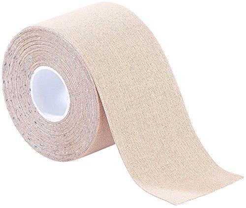 newgen medicals Sport-Tape: Kinesiologie-Tape, Baumwollgewebe, 5 cm x 5 m, beige (Kinesiology Pflaster-Bänder)