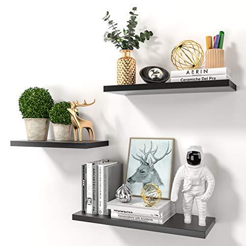 RUNACC Black Floating Shelves for Wall