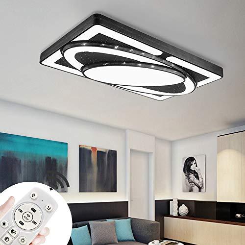 Preisvergleich Produktbild BRIFO 78W LED Deckenleuchte Dimmbar,  Modern Lampe Design,  Deckenlampe für Flur, Wohnzimmer,  Küche, Büro,  Energie Sparen Licht,  Dimmbar (3000-6500K) Mit Fernbedienung (Schwarz,  78W)