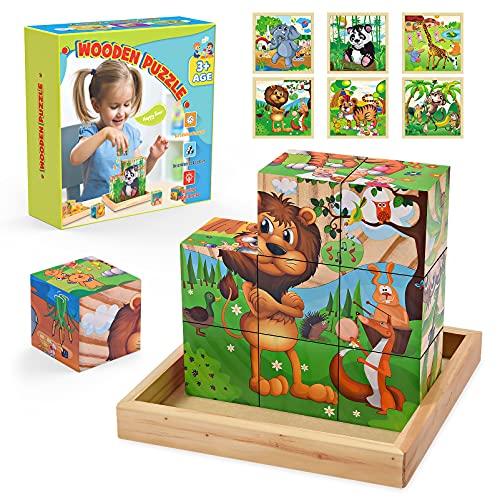 Hotifts Puzzle 2 3 4 5 6 Años,Juegos Educativos Niños 2-5 Años Regalos Cumpleaños Niños Colegio Juguetes para Niños De 5 6 7 Años Juguetes Niñas 2-6 Años Regalos para Niños Puzzles Infantiles 3 Años