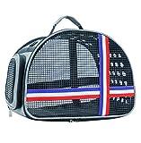 Hh Hundetasche Atmungsaktives Mesh Handtasche Schulter Tragbare Katze Tragen Leicht Zu Poröse Tierträger 36x25x28cm Durchzuführen