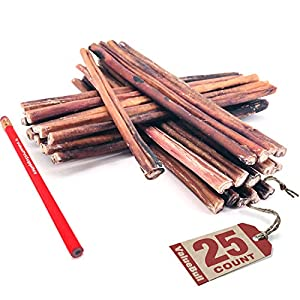 ValueBull Bully Sticks for Dogs, Medium 12 Inch, 25 Count – All Natural Dog Treats, 100% Beef Pizzle, Single Ingredient Rawhide Alternative