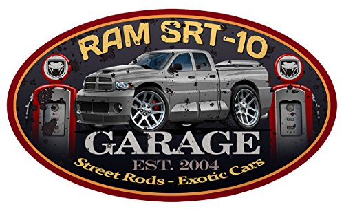 Dodge Ram SRT-10 Viper Quadcab Pickup Truck GARAGE SIGN Wall Art Graphic Decal Sticker (2 Ft)