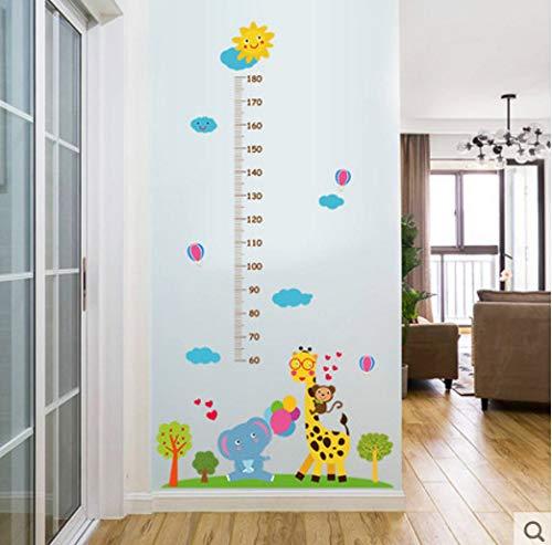 Creatieve Hoogte Stickers Kinderkamer Cartoon Muur Baby Decoratie Behang Stickers Muurstickers Zelfklevende Giraffe Hoogte Stickers Stickers kunnen worden verwijderd