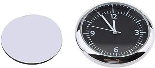 MagiDeal Mini wasserdichte Stick On Motorrad Uhr Uhr Motorrad Auto Uhr   schwarz
