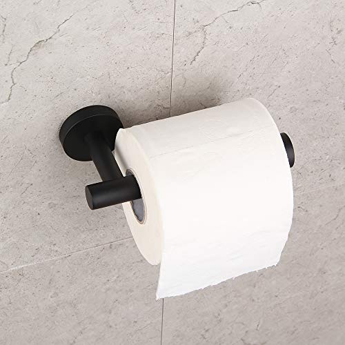 Bathroom Toilet Paper Holder SUS 304 Stainless Steel Matte Black Tissue Paper Roll Holder Wall Mount GERZ