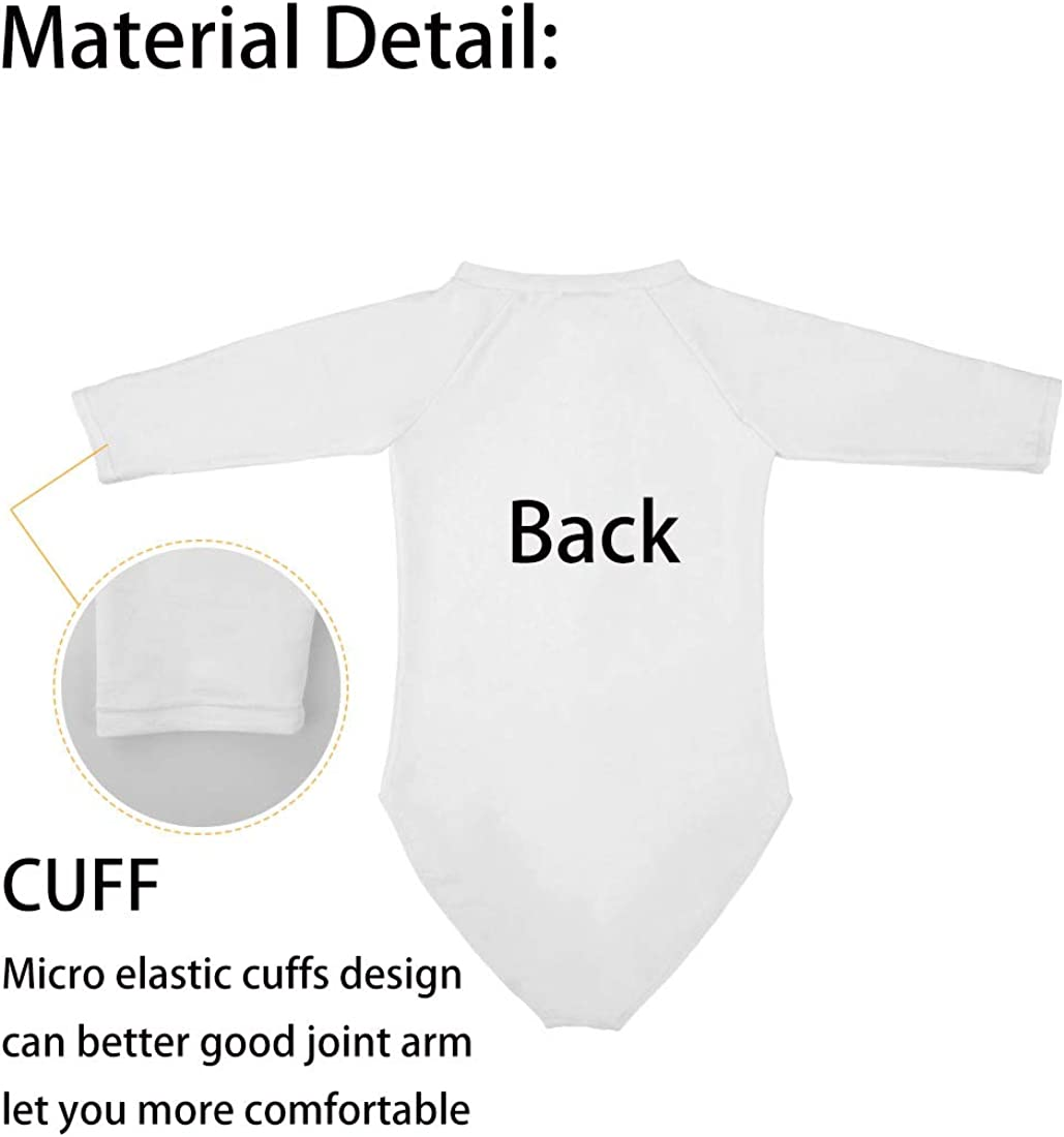 Cute Sloth Baby One Piece Swimsuits Long Sleeve UV Protection Surfing Rash Guard Zip Bathing Suit Swimwear for Women
