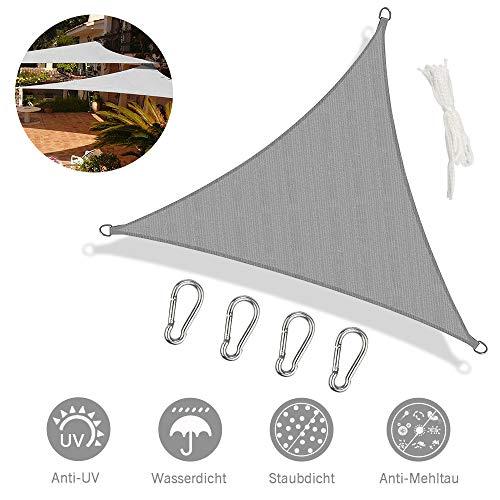Innoo Tech Sonnensegel,Sonnenschutz sonnensegel wetterbeständig Segel Schatten PES UV-Schutz sonnensegel rechteckig für Garten Outdoor Terrasse Balkon (3 * 3m)