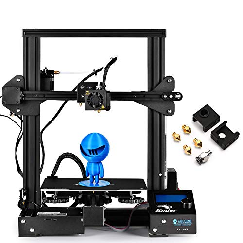 SainSmart x Creality Ender-3 PRO 3D Printer with Upgraded C-Magnet Build Surface Plate Mat, UL Certified Power Supply, Extra 4 Nozzles, Build Volume 8.7' x 8.7' x 9.8'
