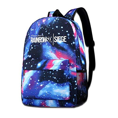 Galaxy Printed Shoulders Bag Rainbow-Six-Siege Fashion Casual Star Sky Backpack for Boys&Girls