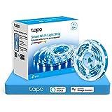 TP-Link Tapo - 5m WiFi Tiras LED de 12V, 16 Millones de Colores con 2100 mcd, Saludable para la Familia, Sincronización con...