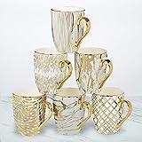 Certified International 26540SET6 Matrix 16 oz. Gold Plated Mugs, Set of 6, 5' x 3.25' x 4.5', Multicolored