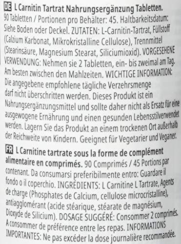 Myprotein L-Carnitine 90 Tabletten, 1er Pack (1 x 90 g) - 6